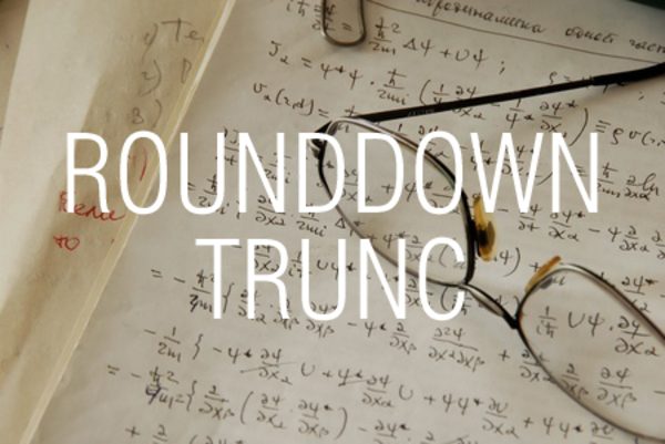 ROUNDDOWN関数/TRUNC関数で数値を切り捨てる