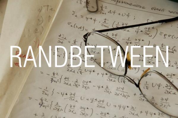 RANDBETWEEN関数で整数の乱数を発生させる