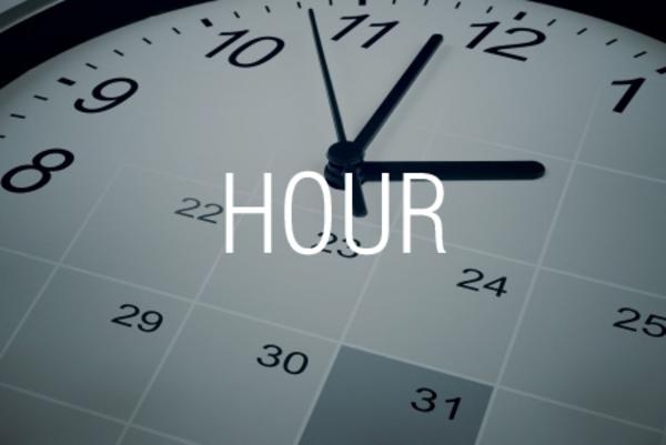 HOUR関数で時刻から「時」を取り出す