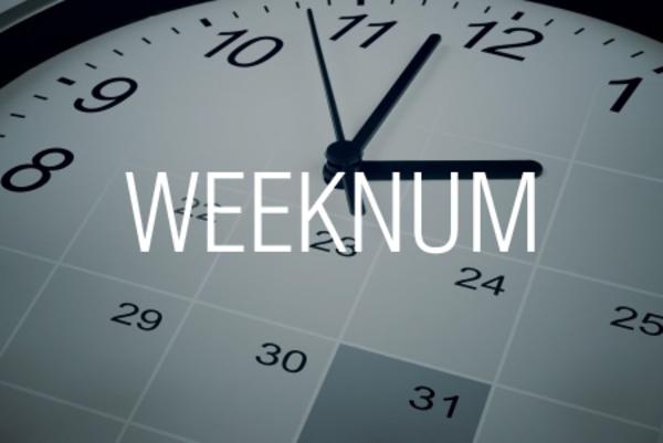 WEEKNUM関数で日付が何週目かを求める