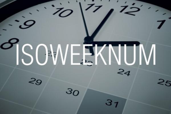 ISOWEEKNUM関数で日付が何週目かを求める
