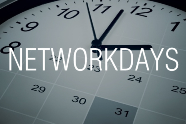 NETWORKDAYS関数で土日と祭日を除外して期間内の日数を求める