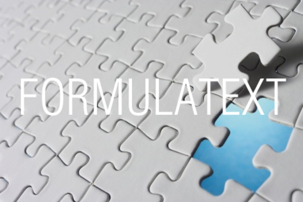 FORMULATEXT関数で数式を取り出す