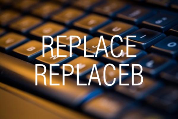 REPLACE関数/REPLACEB関数で指定した文字数またはバイト数の文字列を置き換える