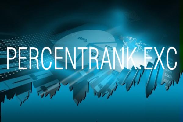 PERCENTRANK.EXC関数で百分率での順位を求める