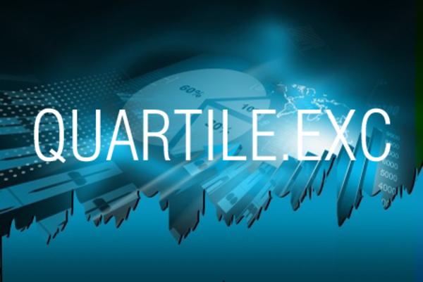 QUARTILE.EXC関数で四分位数を求める