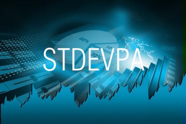 STDEVPA関数でデータをもとに標準偏差を求める