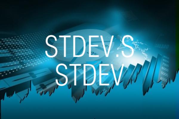 STDEV.S関数/STDEV関数で数値をもとに不偏標準偏差を求める