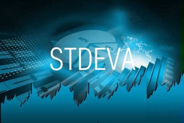 STDEVA関数でデータをもとに不偏標準偏差を求める