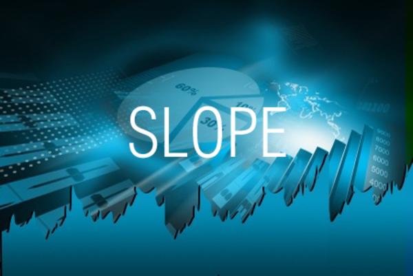 SLOPE関数で回帰直線の傾きを求める