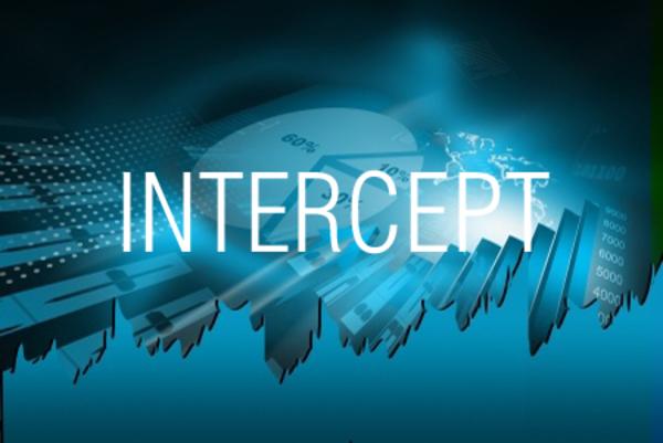 INTERCEPT関数で回帰直線の切片を求める