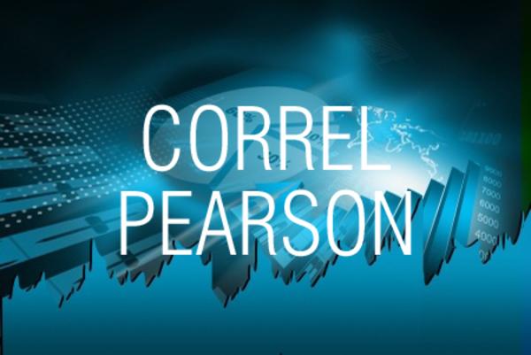 CORREL関数/PEARSON関数で相関係数を求める