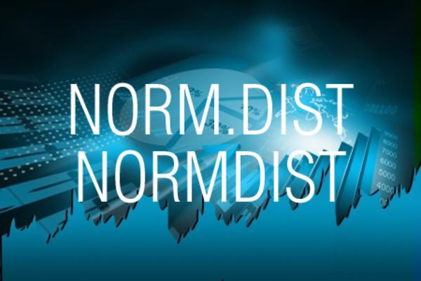 NORM.DIST関数/NORMDIST関数で正規分布の確率や累積確率を求める