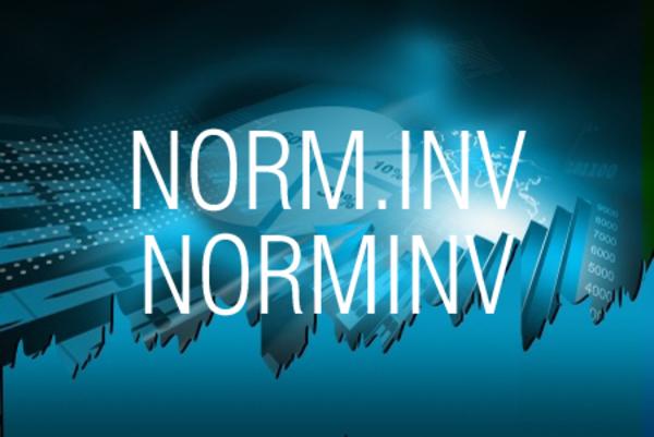 NORM.INV関数/NORMINV関数で累積正規分布の逆関数の値を求める