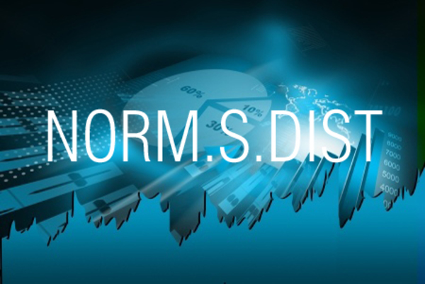 NORM.S.DIST関数で標準正規分布の累積確率を求める