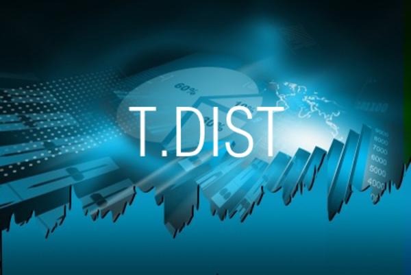 T.DIST関数でt分布の確率や累積確率を求める