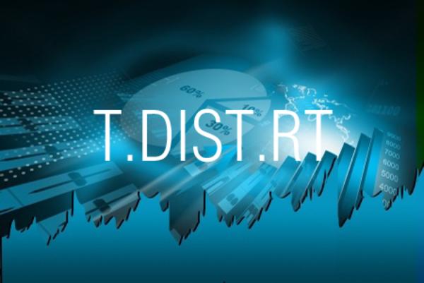 T.DIST.RT関数でt分布の右側確率を求める