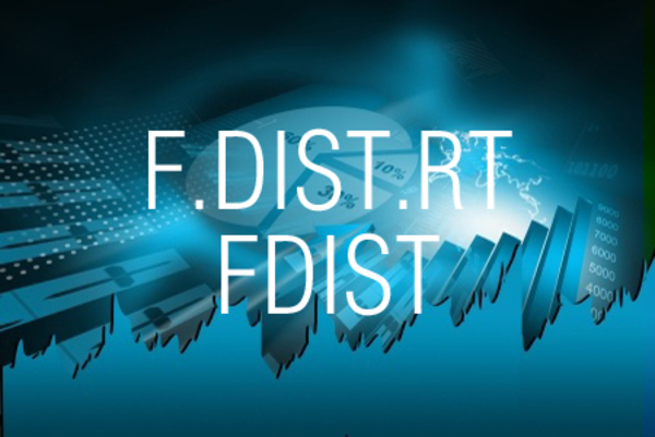 F.DIST.RT関数/FDIST関数でF分布の右側確率を求める