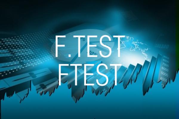 F.TEST関数/FTEST関数でF検定を行う