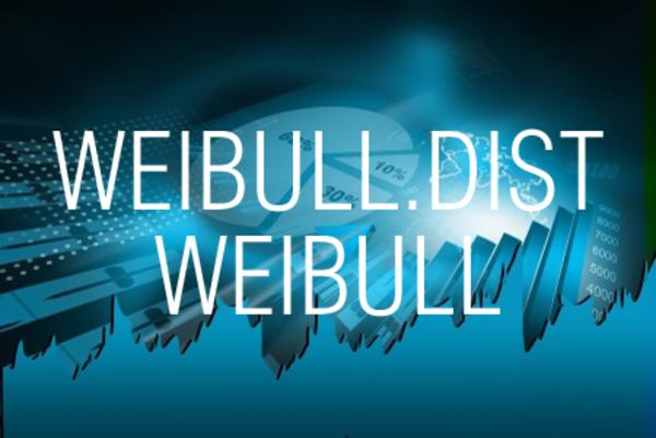 WEIBULL.DIST関数/WEIBULL関数でワイブル分布の値を求める