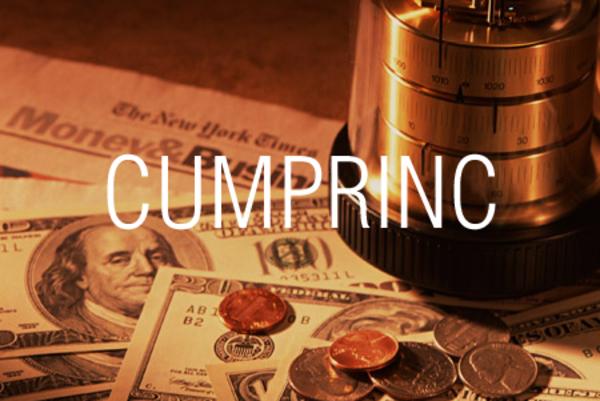 CUMPRINC関数でローンの返済額の元金相当分の累計を求める