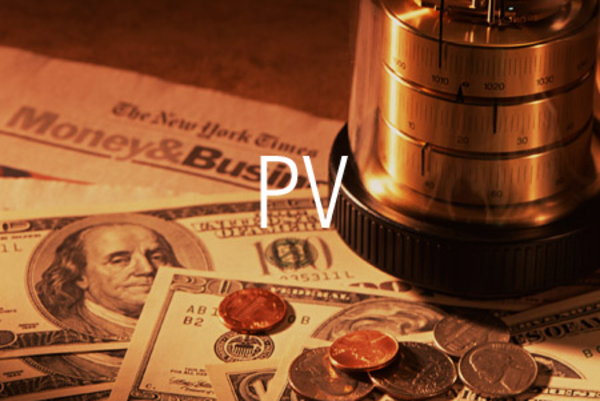 PV関数で現在価値を求める