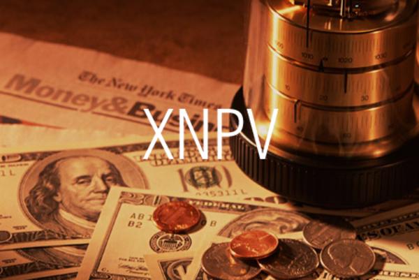 XNPV関数で不定期的なキャッシュフローから正味現在価値を求める