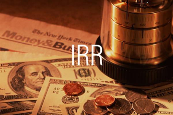 IRR関数で定期的なキャッシュフローから内部利益率を求める