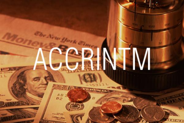 ACCRINTM関数で満期利付債の経過利息を求める
