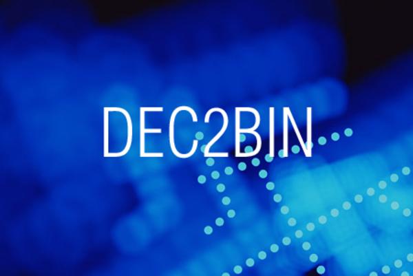 DEC2BIN関数で10進数表記を2進数表記に変換する