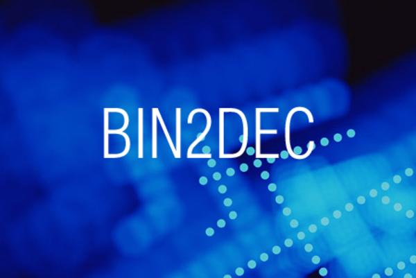 BIN2DEC関数で2進数表記を10進数表記に変換する