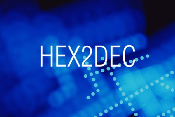HEX2DEC関数で16進数表記を10進数表記に変換する