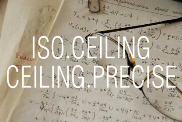 ISO.CEILING関数/CEILING.PRECISE関数で数値を基準値の倍数に切り上げる