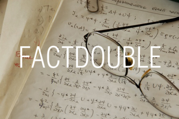 FACTDOUBLE関数で二重階乗を求める