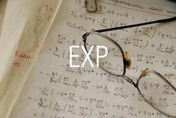 EXP関数で自然対数の底eのべき乗を求める