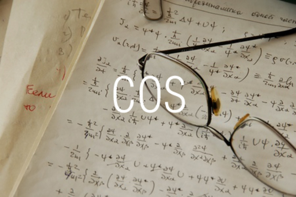 COS関数で余弦を求める