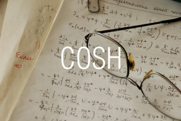 COSH関数で双曲線余弦を求める