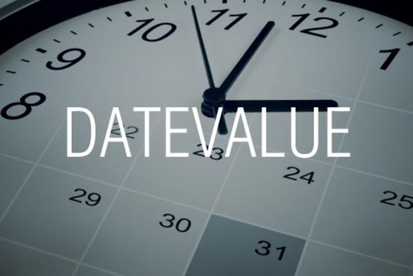 DATEVALUE関数で日付を表す文字列からシリアル値を求める