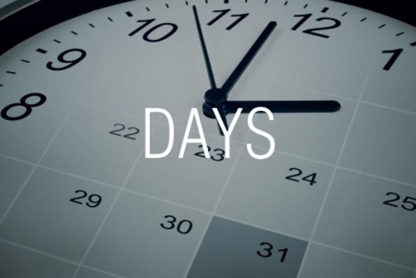 DAYS関数で2つの日付から期間内の日数を求める