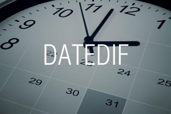 DATEDIF関数で期間内の年数、月数、日数を求める