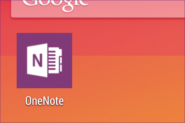 AndroidでOneNoteのメモを確認しよう
