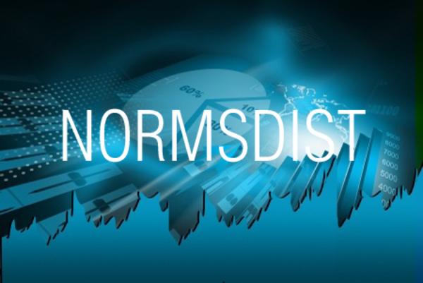 NORMSDIST関数で標準正規分布の累積確率を求める