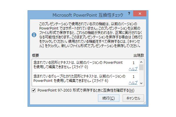 古いバージョンのパワーポイント用に資料を保存する方法