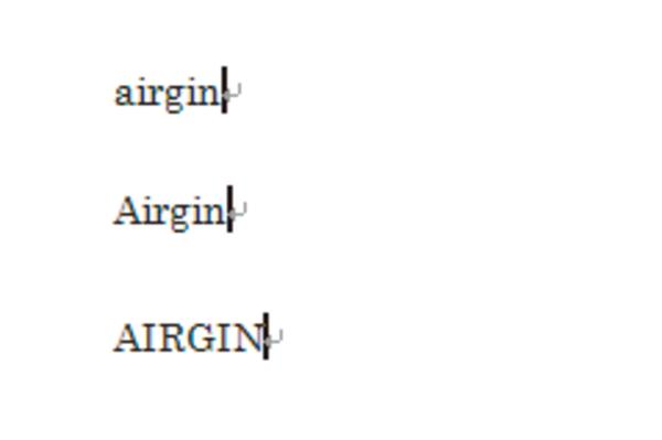 Wordで確定済みの英小文字を大文字に変換する方法