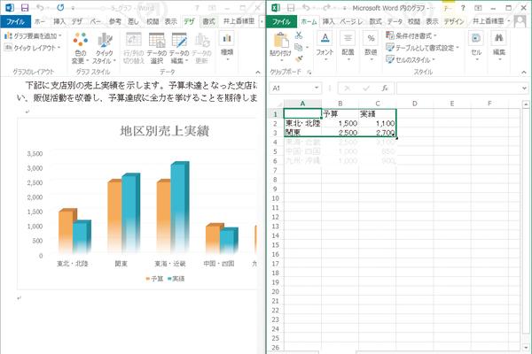Wordでグラフに必要のないデータまで表示されるときの対処方法