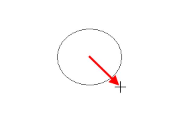 Wordで円を中心から描く方法