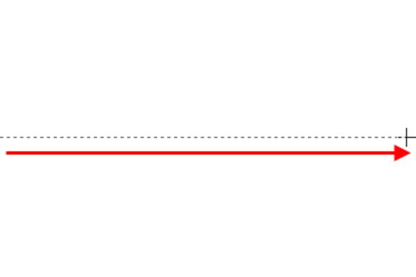 Word 2013で水平・垂直な線を描くには