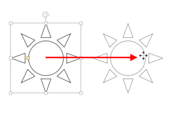 Wordで図形を真横や真上に移動する方法