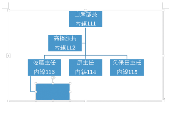 Word 2013で組織図に図形を追加するには