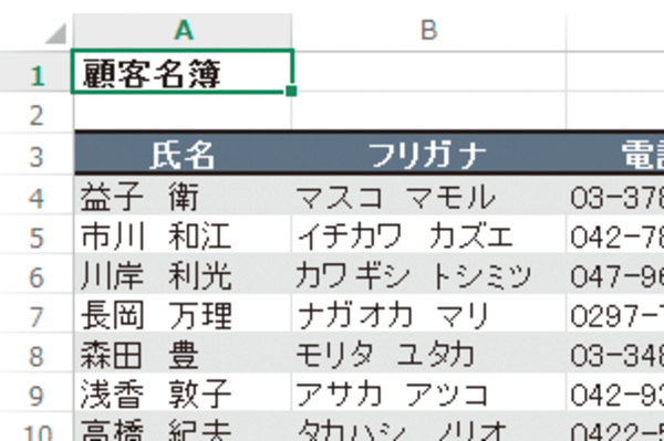 Excel ですべてのセルを選択にできる[全セル選択]ボタン